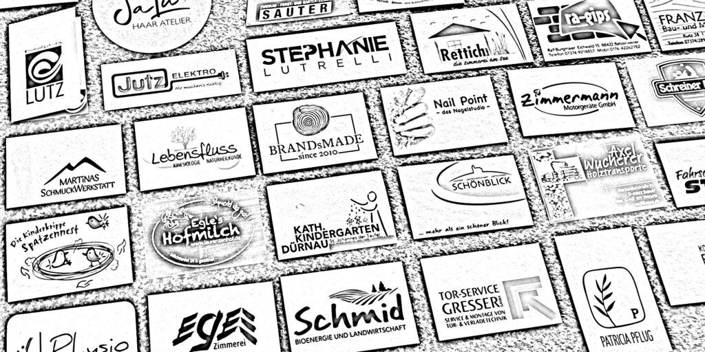 corporate design beispiel für logo design mit filter fotokopie